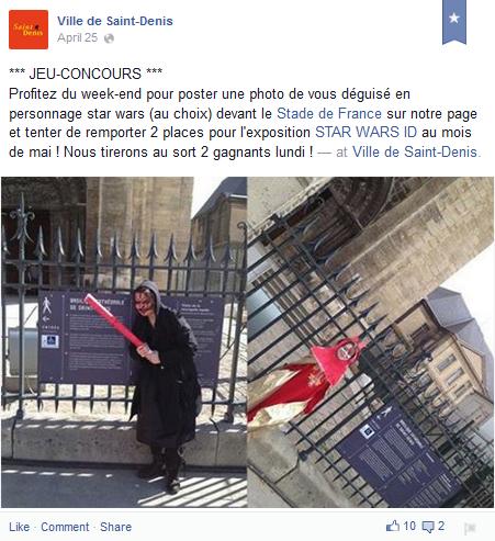Exemple d'événement facebook pour impliquer les habitants et favoriser la réappropriation de l'espace public.