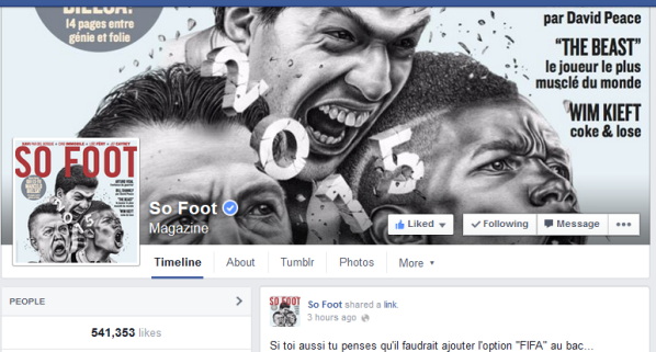 Cover Facebook de So Foot