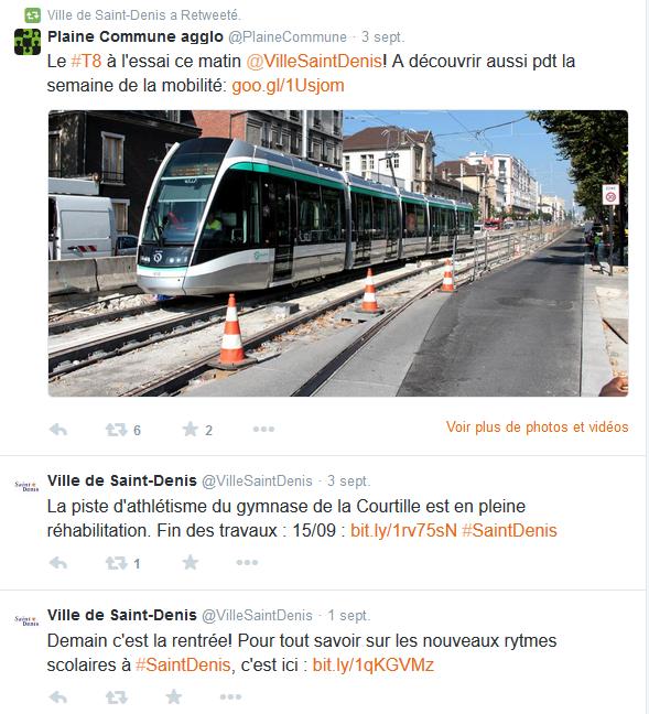 Le compte Twitter informe les habitants des travaux et des initiatives locales