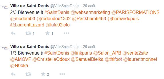 Saint-Denis cherche à interagir avec ses habitants sur son compte Twitter